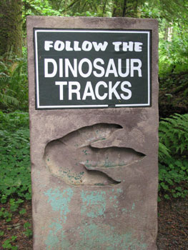 Follow the dinosaur tracks