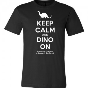 Keep Calm and Dino On - Black