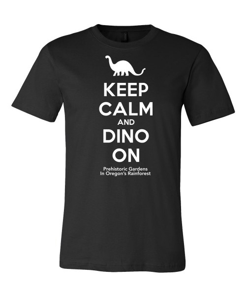 Keep Calm and Dino On – Black