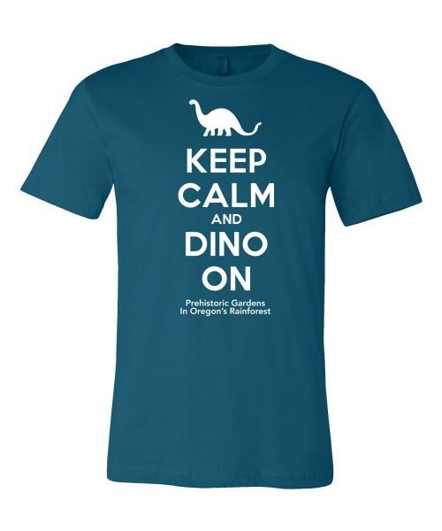 Keep Calm and Dino On – Teal
