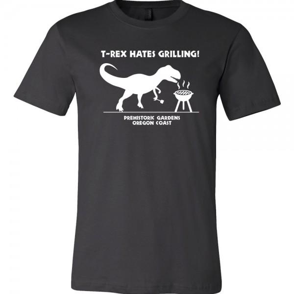 trex hates grilling tshirt black
